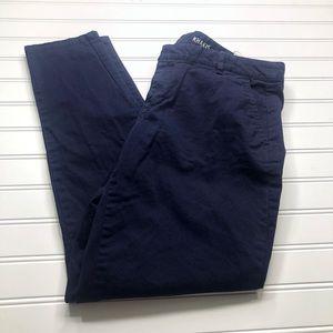 Gap women's navy skinny mini khakis size 4